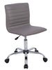 Smugdesk Home Office Chair, Computer Chair Armless Swivel Conference Room Task Desk Chairs, Grey