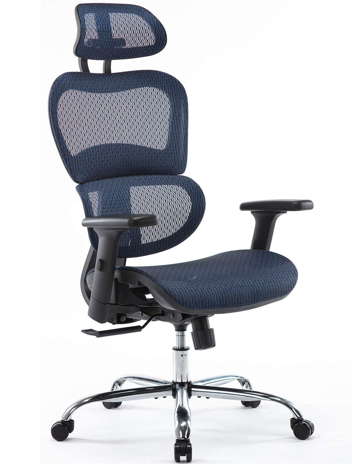 Smugdesk Ergonomic High Back Adjustable Office Chair-BLUE