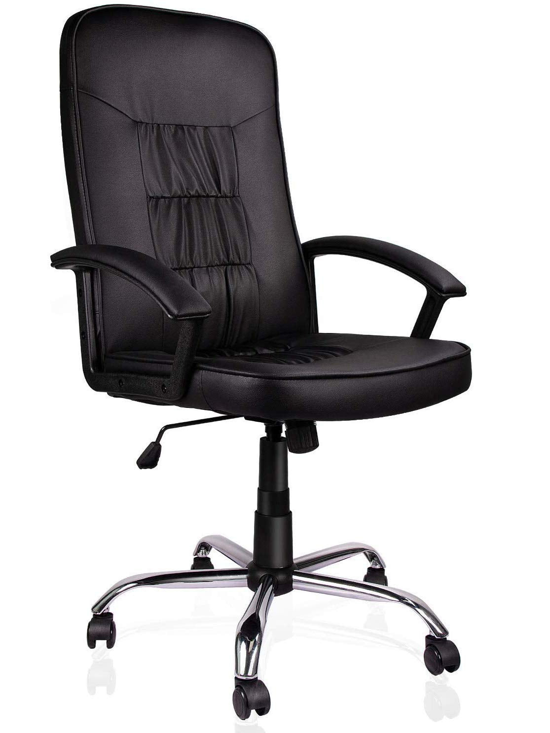 Ergonomic Office Chair Executive Bonded Leather Computer Chair, Black