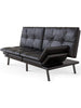 Futon Sofa Bed Memory Foam Couch Sleeper Daybed Foldable Convertible Black