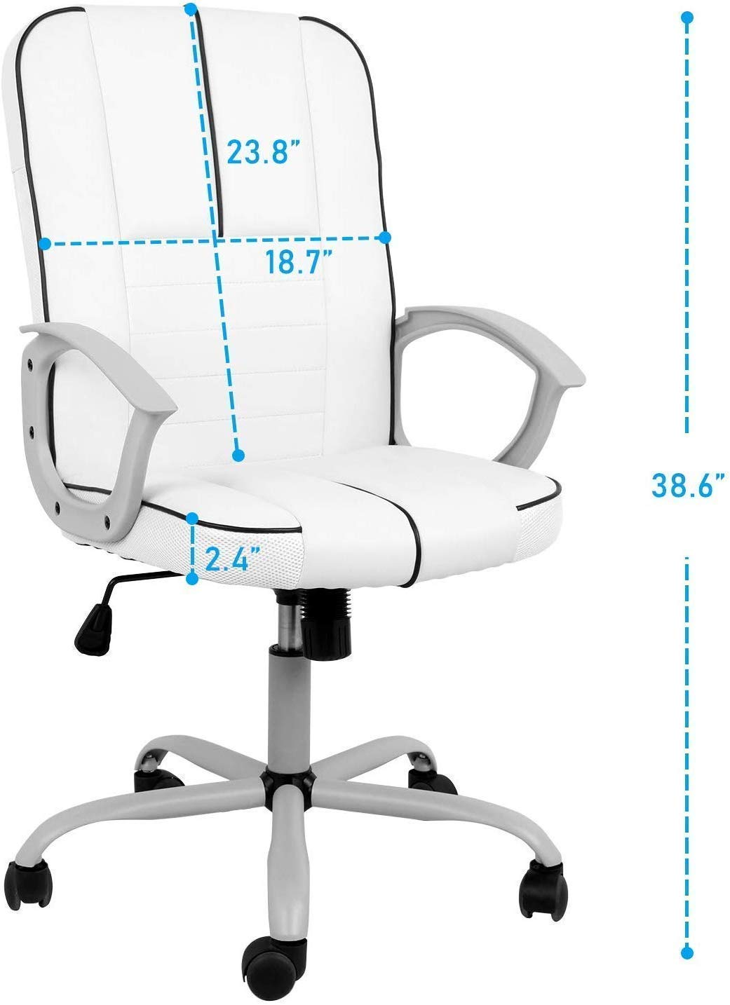 Ergonomic Bonded Leather Office Computer Chair