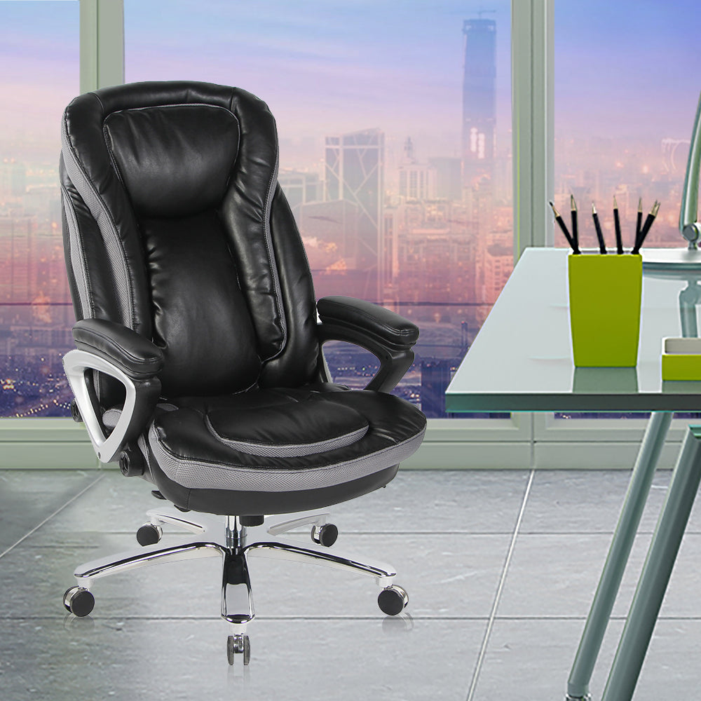 SmugChair Large Leather Executive High Back Office Chair