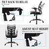 SmugChair Ergonomic Mid Back Mesh Office Chair Black
