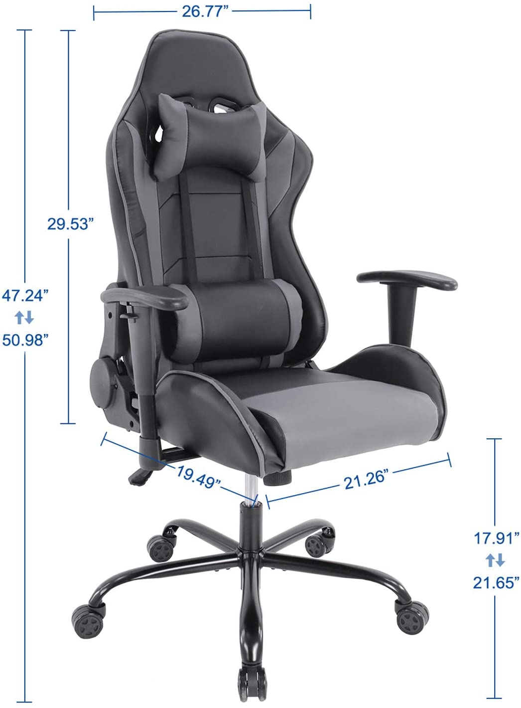 Smugdesk Racing Style Gaming Chair Ergonomic High Back Computer Chair