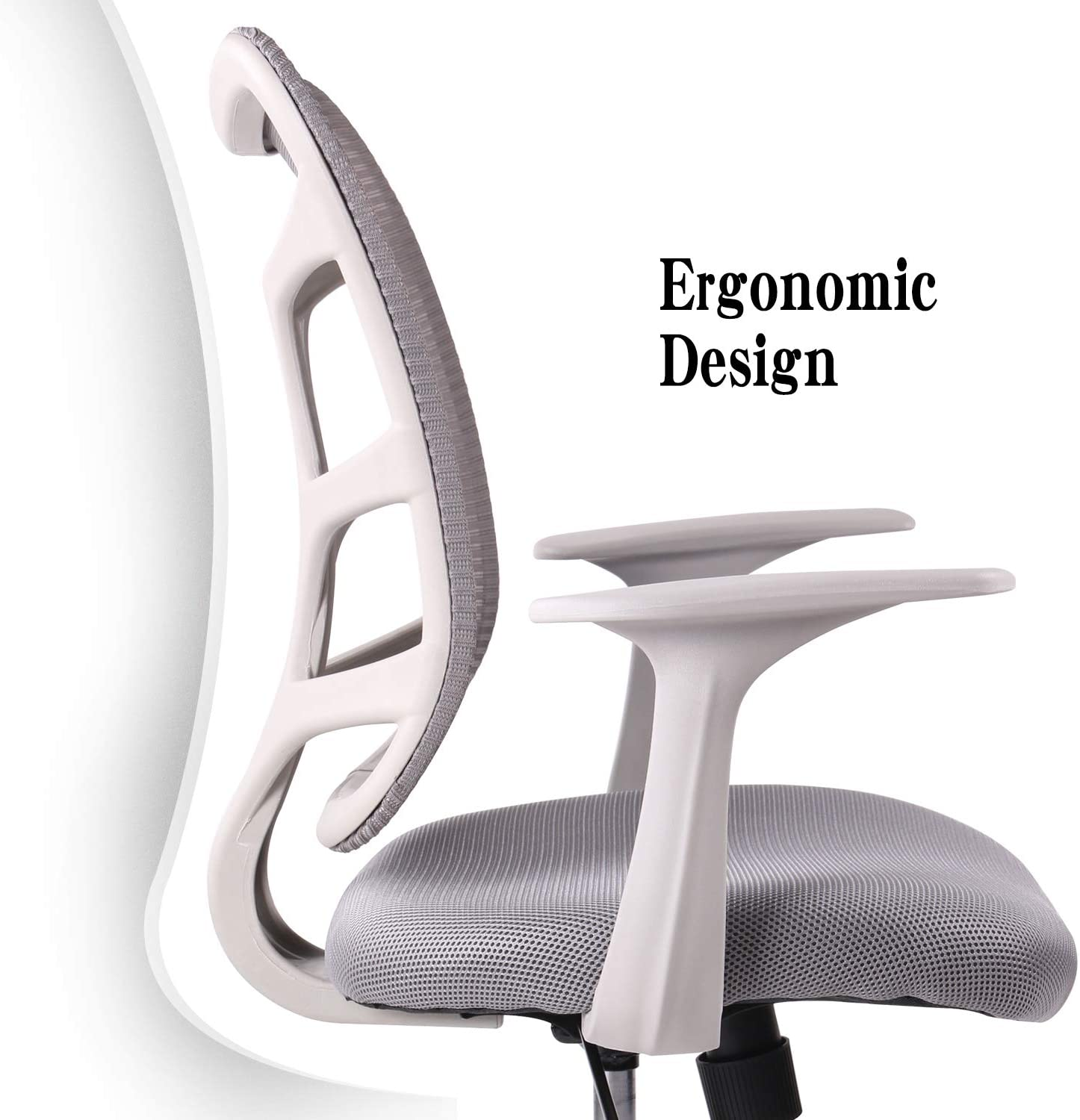 Smugdesk Ergonomic Mid Back Mesh Office Chair Grey