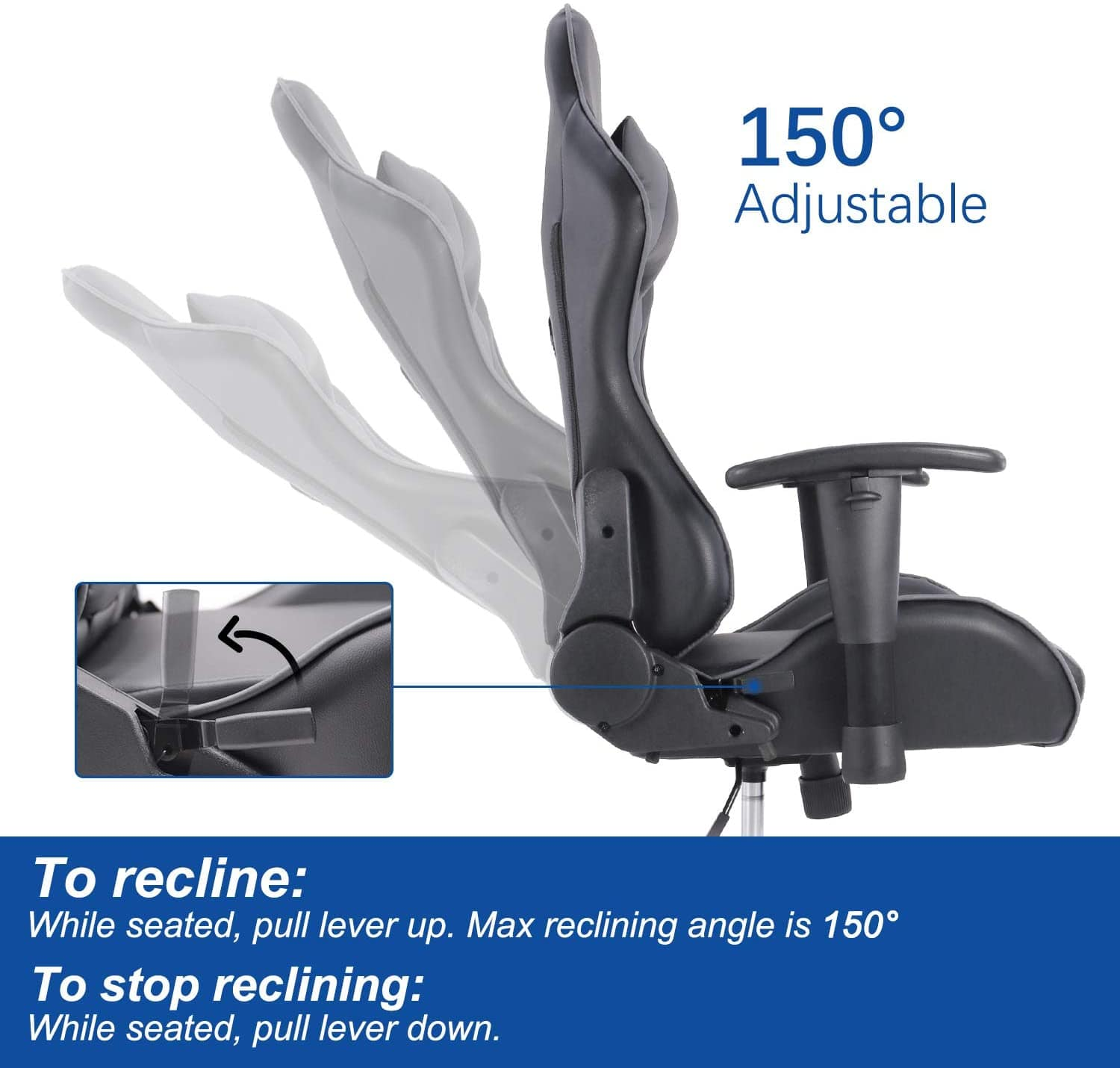 Ergonomic High Back Computer Chair with Height Adjustment, Headrest and Lumbar Support,Gaming Chair Racing Style