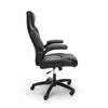 Smugdesk High-Back Racing Style Bonded Leather Gaming Chair, Gray