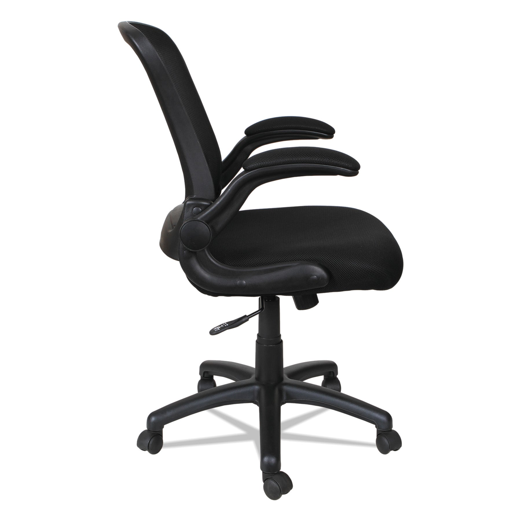 Smugdesk Tilt Mid-Back Mesh Chair, Supports up to 275 lbs Black