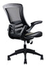 Smugdesk Stylish Mid-Back Mesh Office Chair with Adjustable Arms, Black