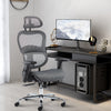 Smugdesk Ergonomic High Back Adjustable Office Chair-GREY