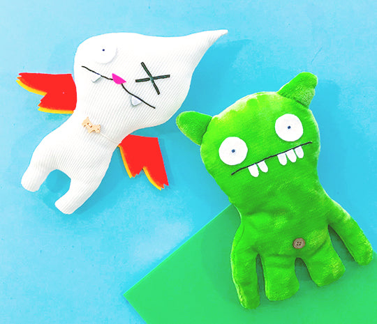Ugly Dolls featuring fundamentals of textiles