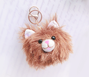 Cat Bag Charm & Wool Felting