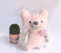 Mohair Bear-Making & wool felting with stuffing
