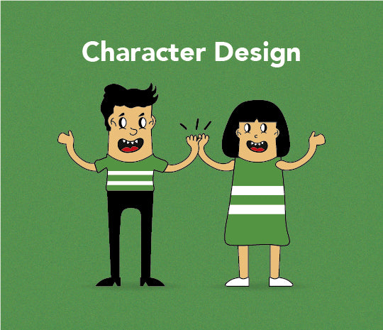character design created in adobe illustrator