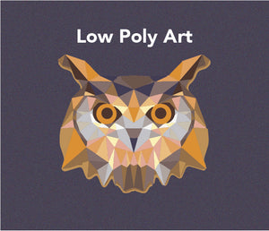 low poly art created in adobe illustrator