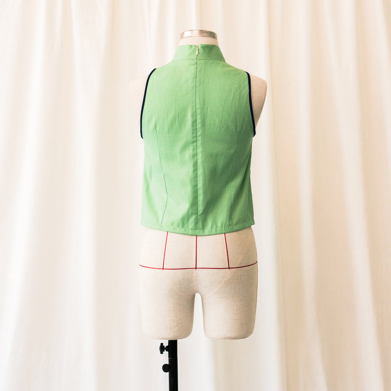 Fashion Sewing 208A – Shang-High Collar Top *Custom Fit