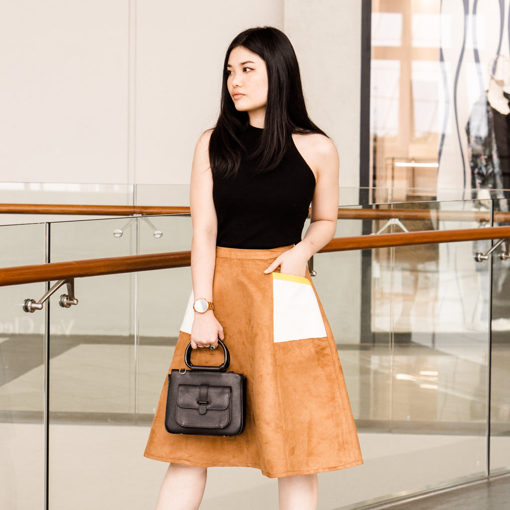 Live Class: Paneled Pocket Midi Skirt