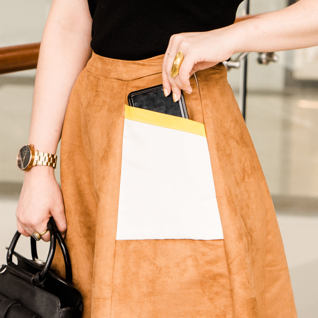 Fashion Sewing 219 – NEW COLLECTION - Paneled Pocket Midi Skirt *Custom Fit