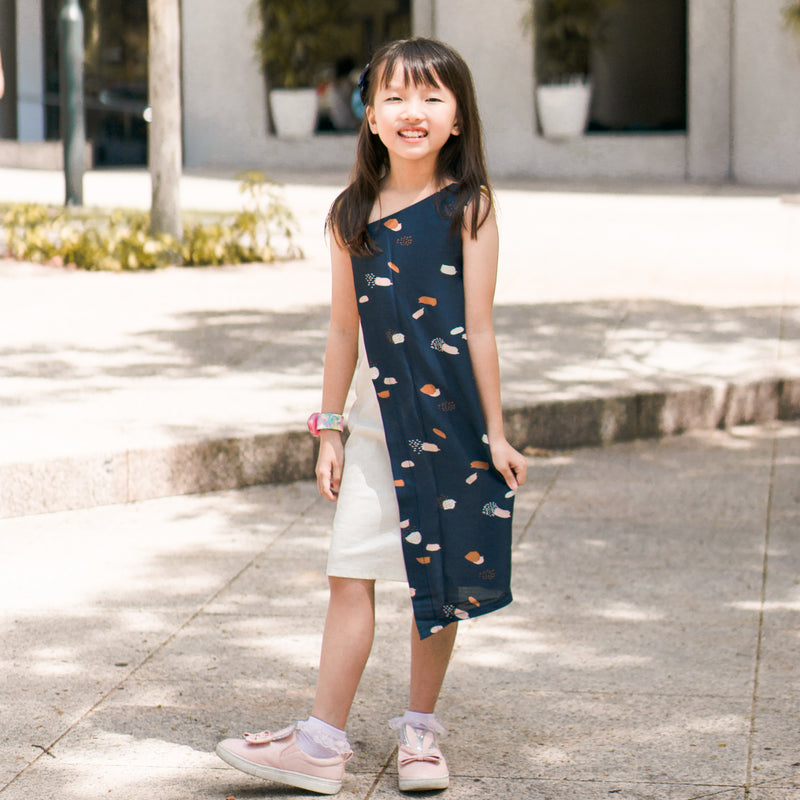 Pattern: K208 - Asymmetric Girl's Dress with Flap*Custom Fit