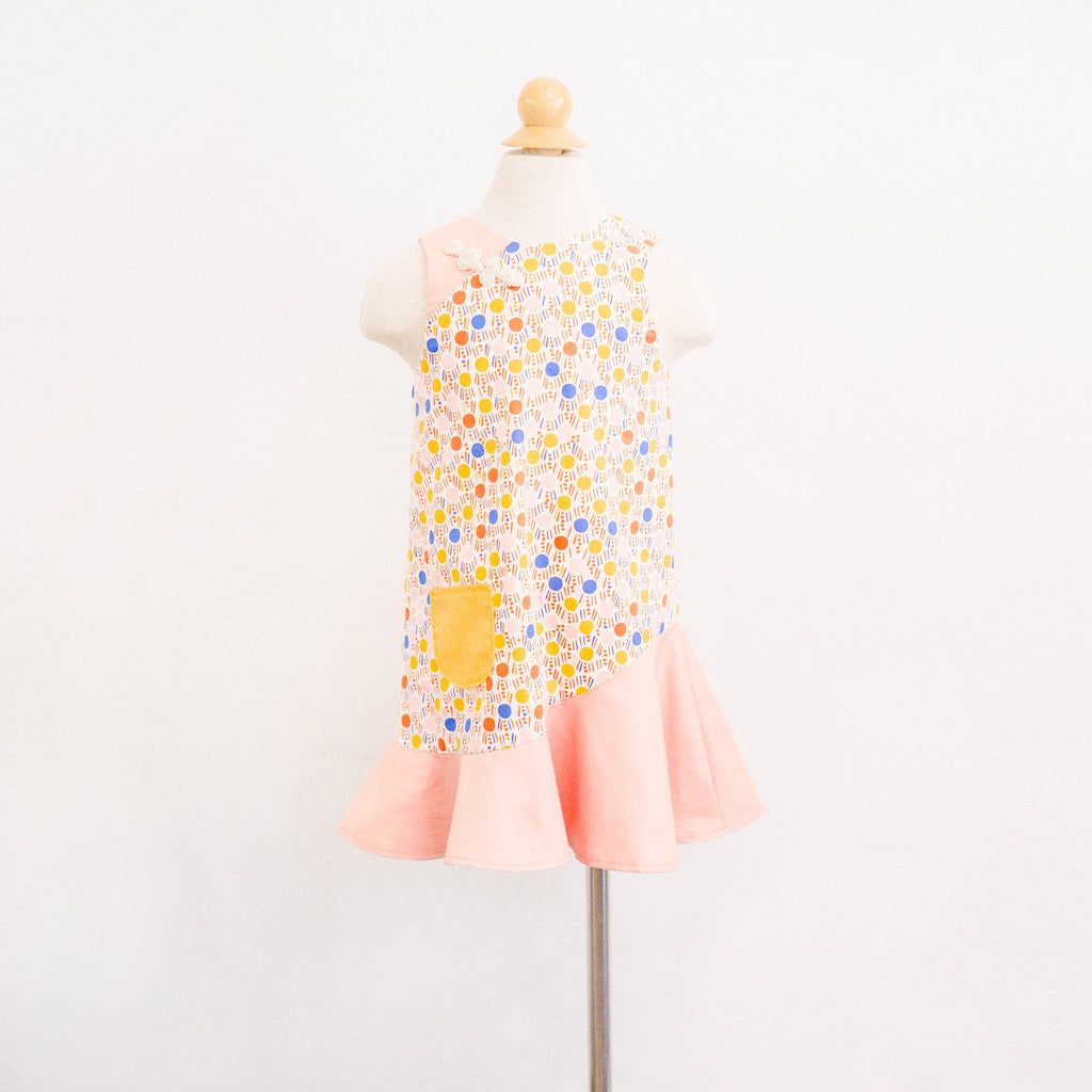 Pattern: K206 Girls' CNY Flute Hem Dress *Custom Fit