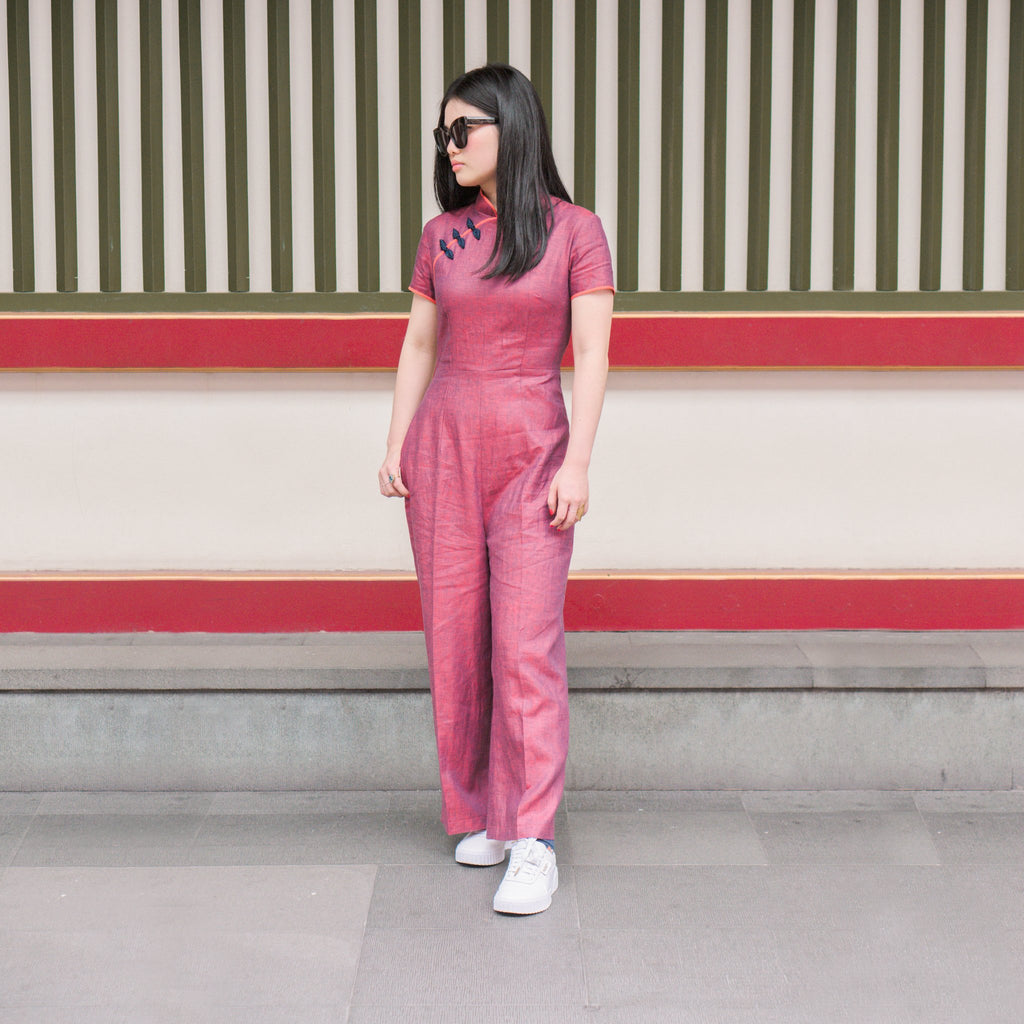 Pattern: 212 – Cheongsam Jumpsuit *Custom Fit