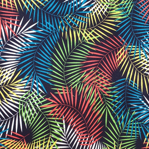 colourful palm leaves fabric