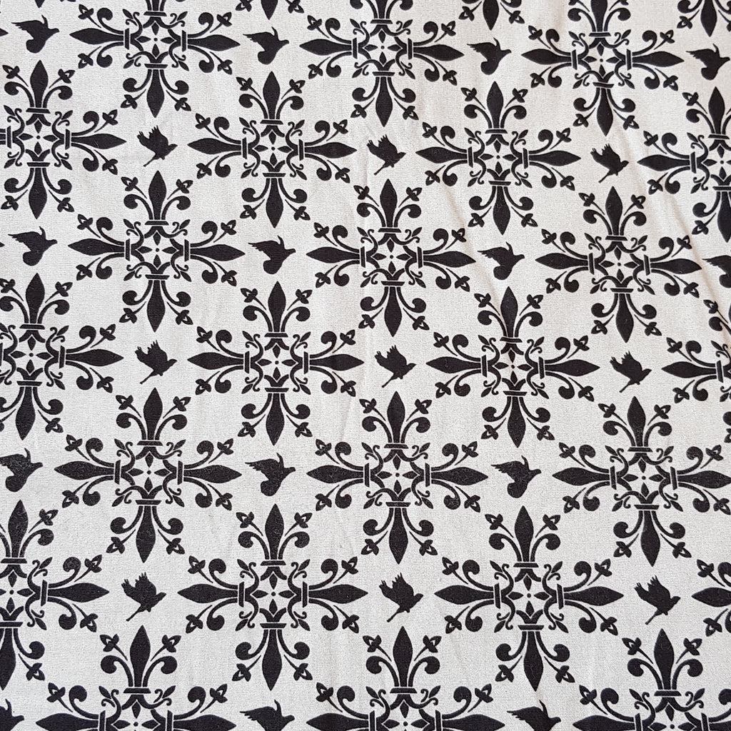 black and white medieval fabric