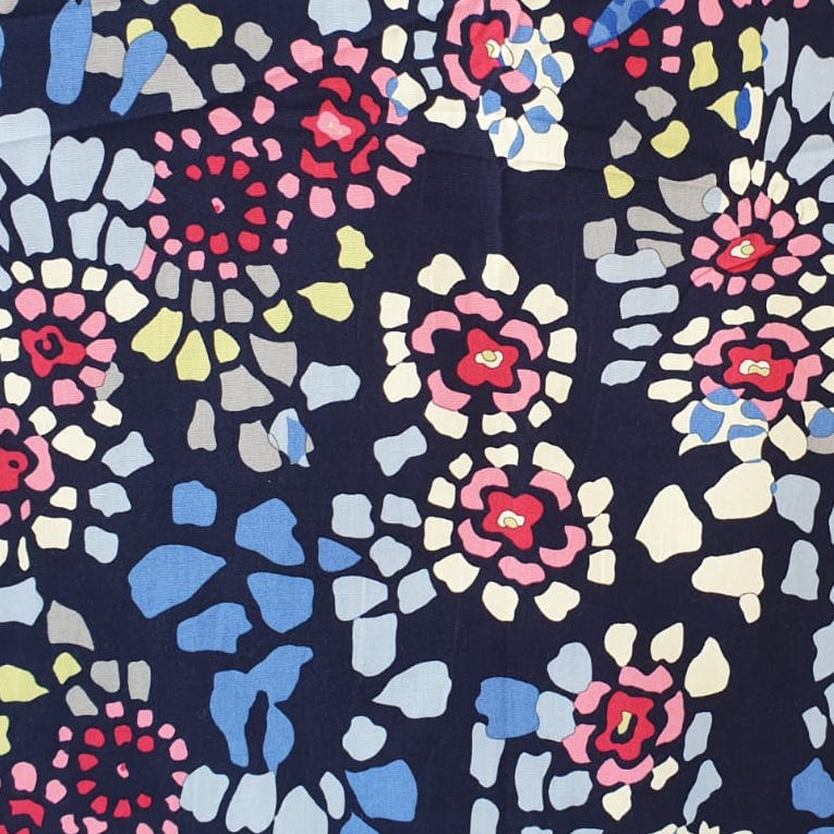 Printed floral fabric