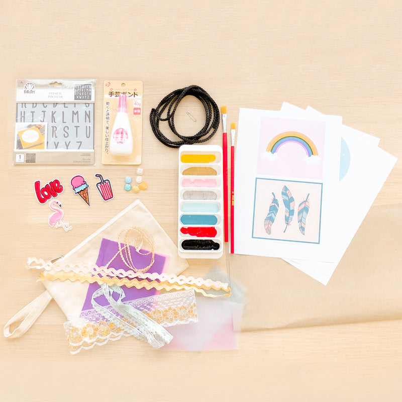 [E-Classes] Girls' T-Shirt Upcycling Kit (For Kids)