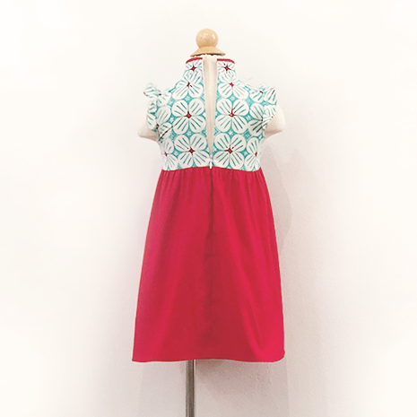 Girls' Cheongsam with back zipper