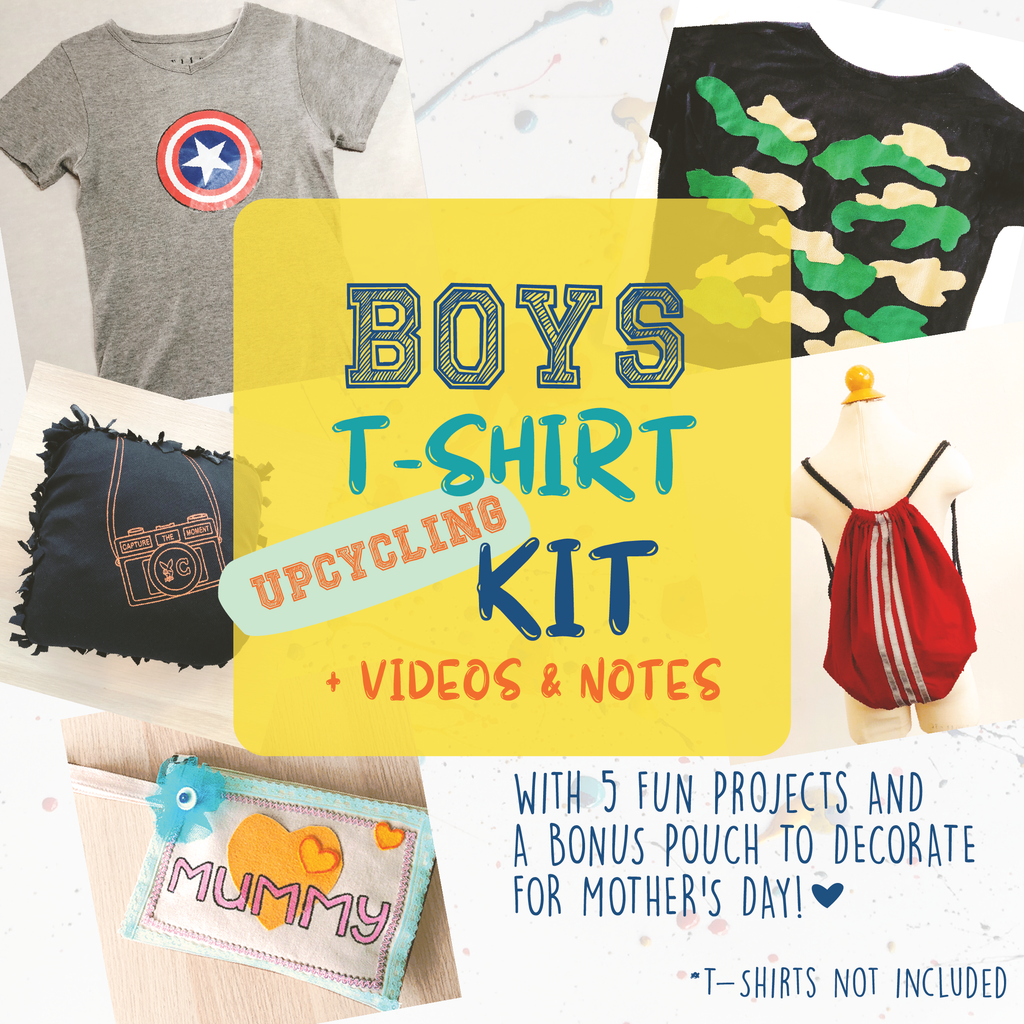 [E-Classes] Boys T-Shirt Upcycling Kit (For Kids)