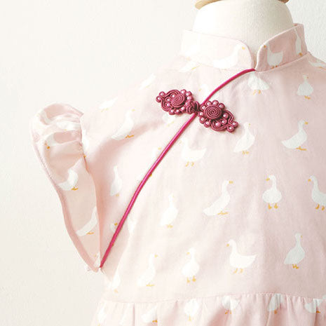 Girls' Cheongsam with flare Set-in sleeves
