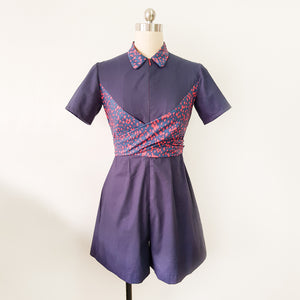 [E-Classes] Collared Romper with Wrap Waist