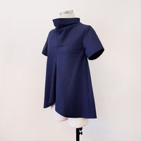 [E-Classes] Cowl Neck Flared Top