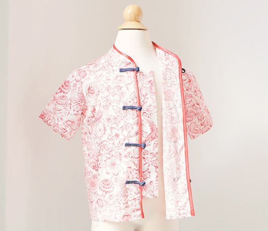 Kidswear: Boy's tang shirt with mandarin collar