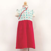 Kidswear: Girls' Cheongsam  with mandarin collar