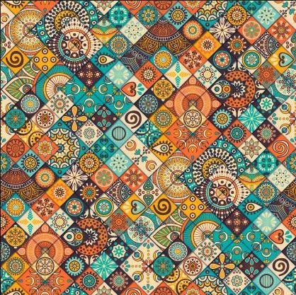IE-OCP 003 | Brown Mosaic Fabric