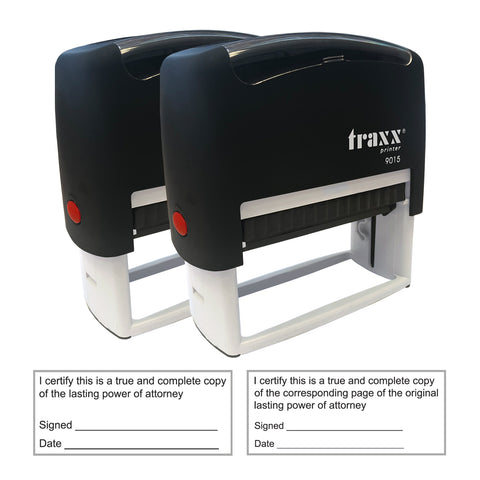 Lasting Power of Attorney Stamp - Traxx 9015 70 x 30mm [2 PACK]
