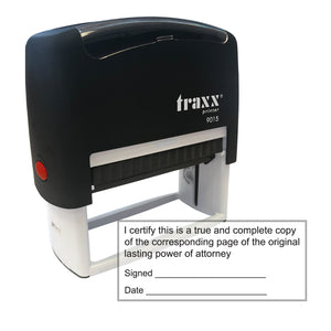 Lasting Power of Attorney Stamp - Traxx 9015 70 x 30mm