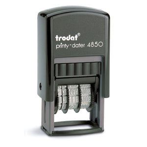 Trodat Printy 4850 Self Inking Rubber Stamp - 23 x 12mm - 3.8mm Date