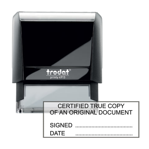 Certified True Copy Trodat 4913 58 x 22mm