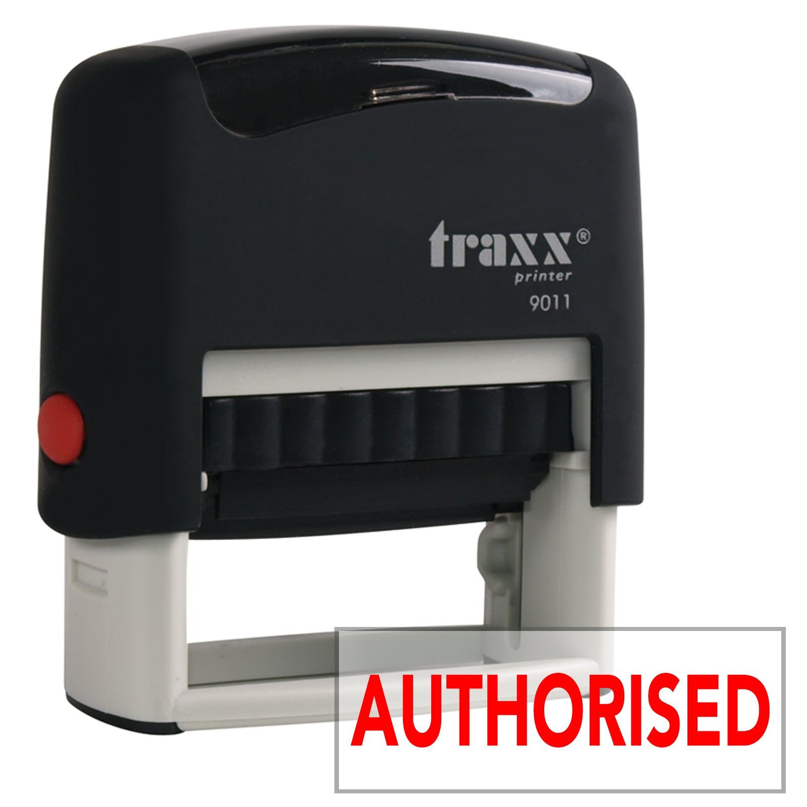 Traxx 9011 38 x 14mm Word Stamp - AUTHORISED