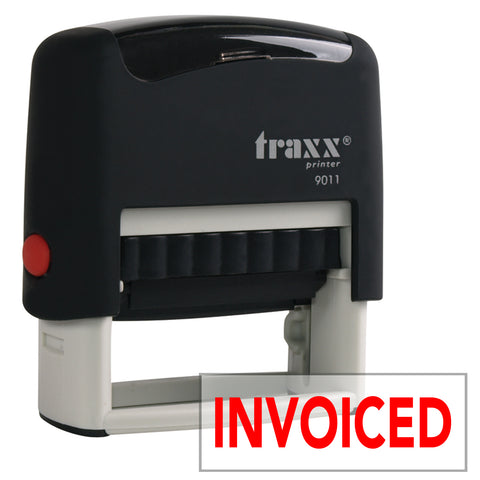 Traxx 9011 38 x 14mm Word Stamp - INVOICED