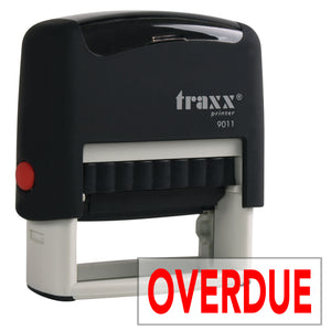 Traxx 9011 38 x 14mm Word Stamp - OVERDUE