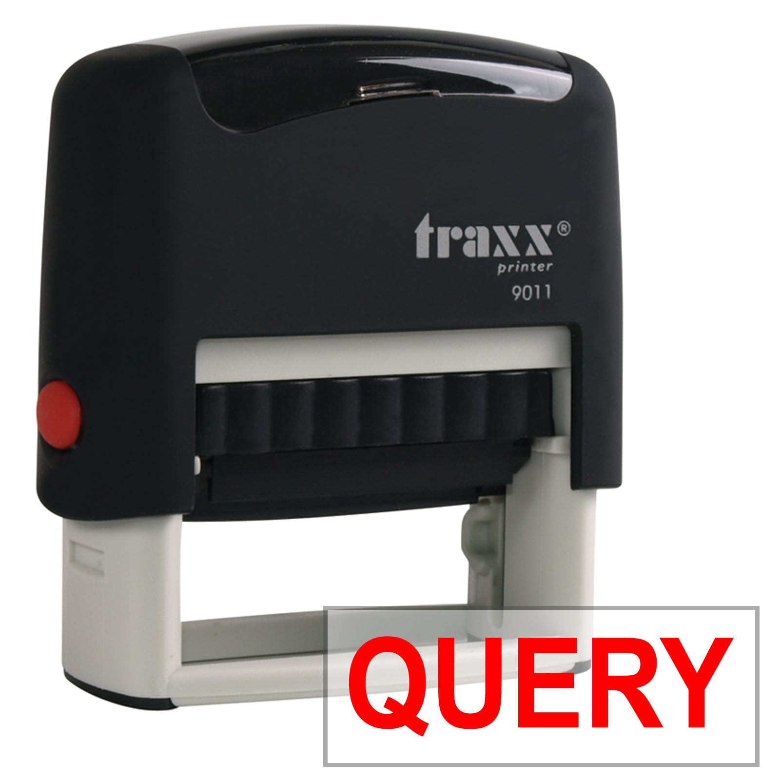 Traxx 9011 38 x 14mm Word Stamp - QUERY