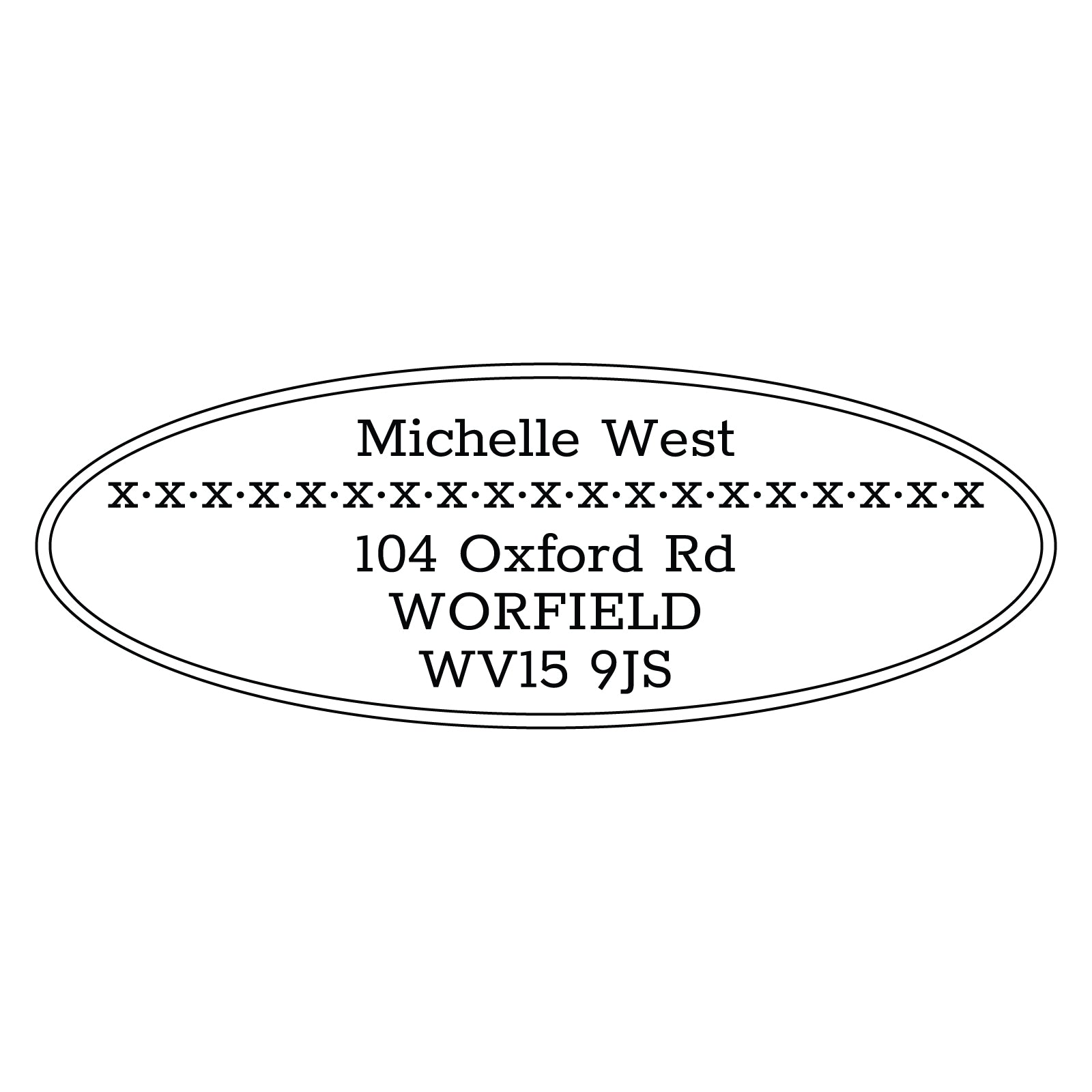 Large Personalised Stamp - Address 3
