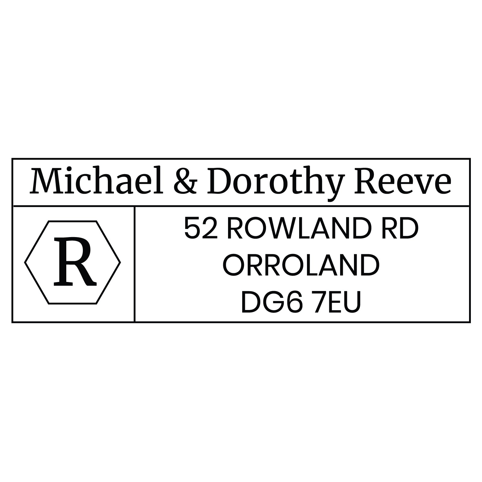Large Personalised Stamp - Address 4