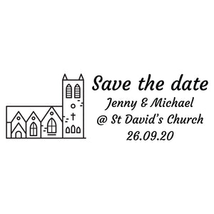 Large Personalised Stamp - Wedding 2