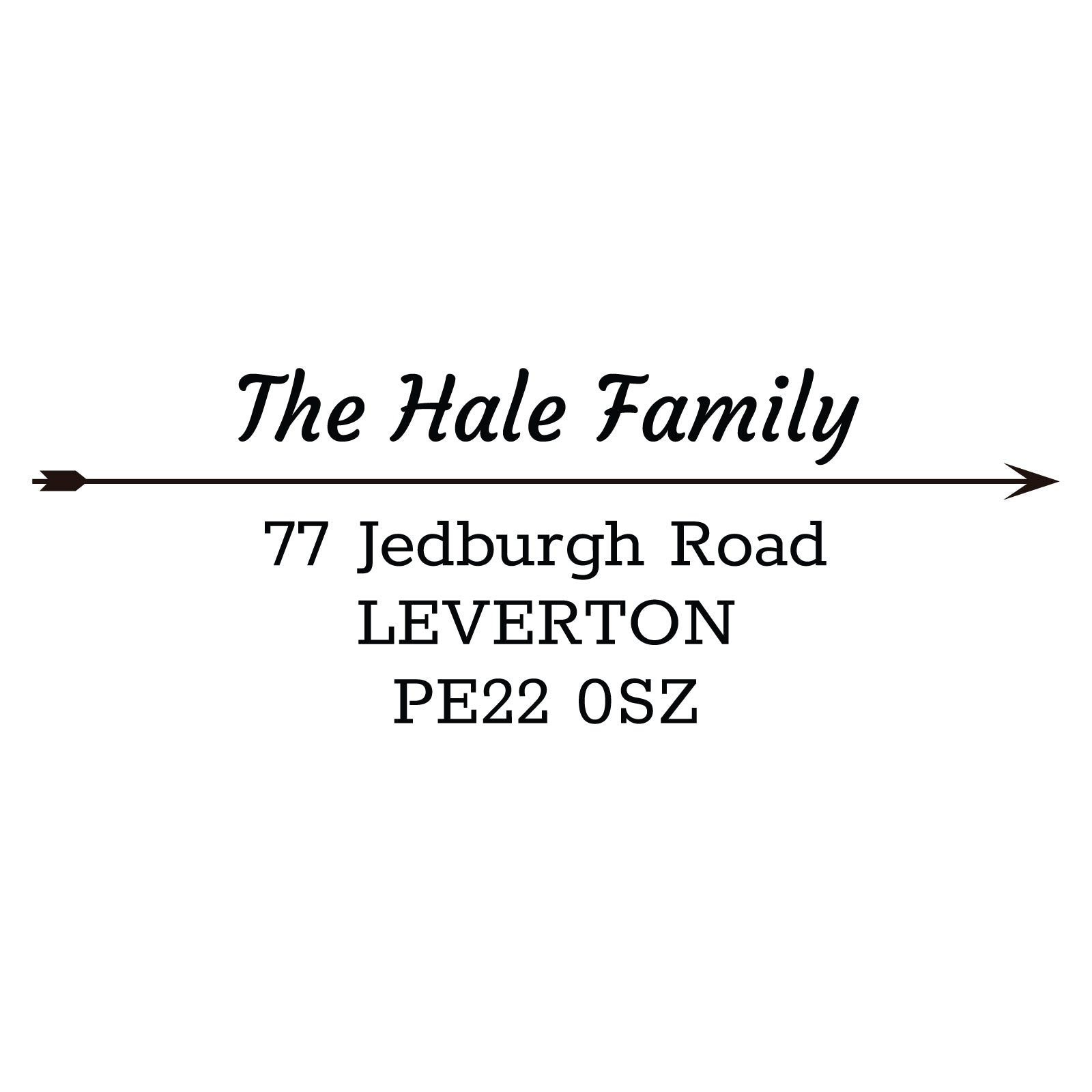 Large Personalised Stamp - Address 5