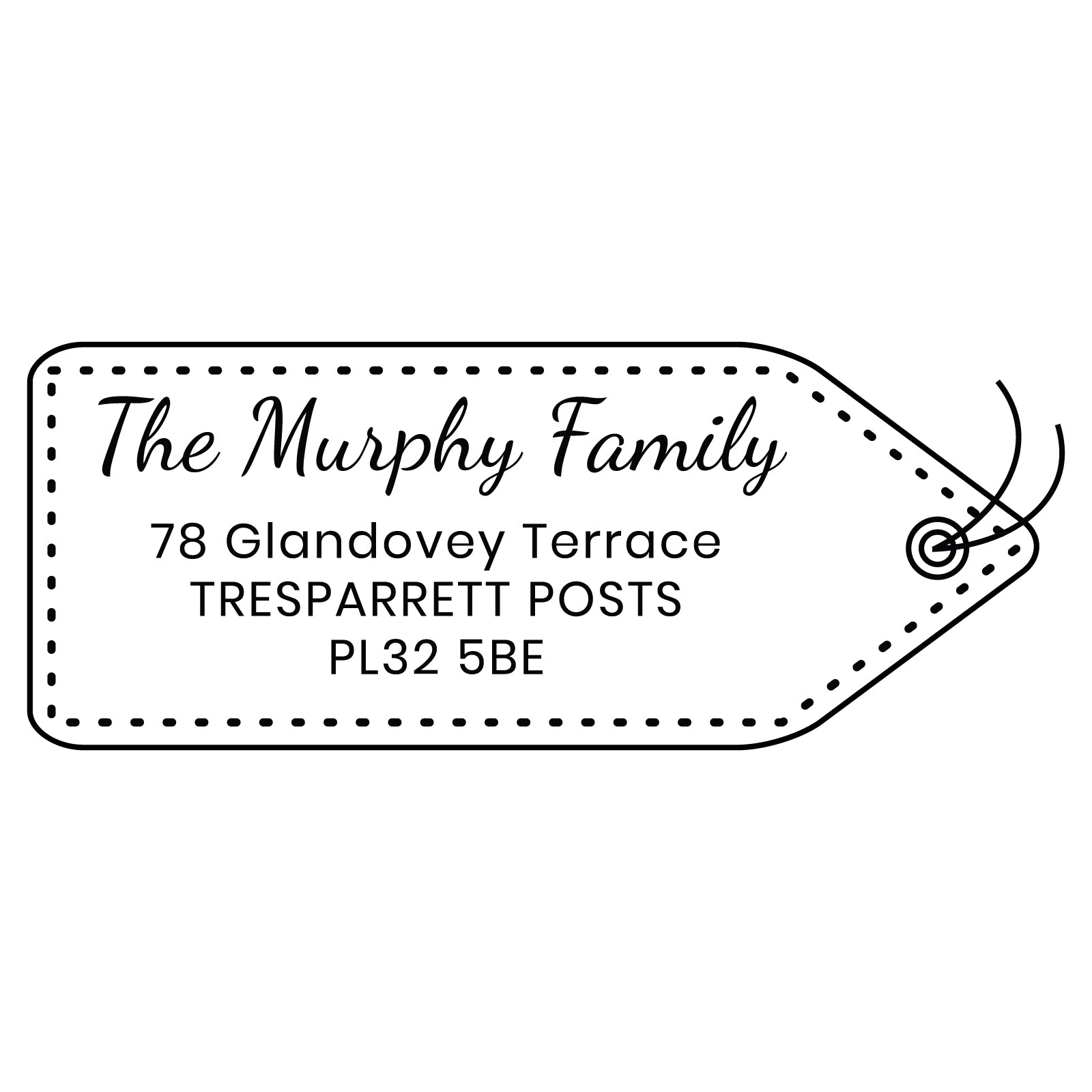 X-Large Personalised Stamp - Address 3